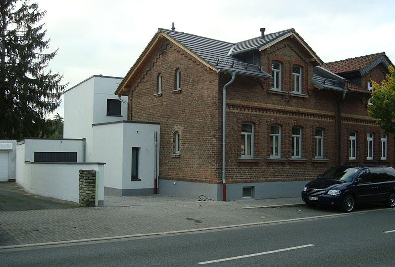 umbau und anbau an einer doppelhaush lfte in bad homburg. Black Bedroom Furniture Sets. Home Design Ideas